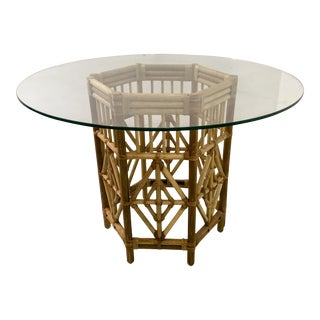 Rattan Consoles or Center Table - A Pair