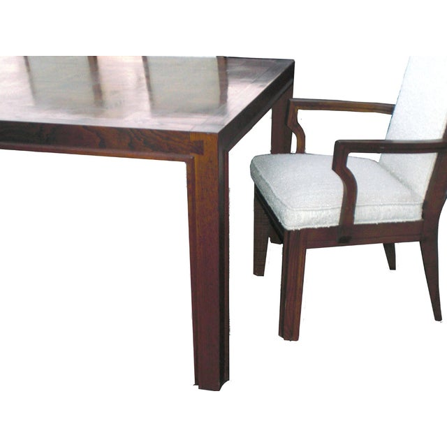 Mid-Century Modern Formica Wood Dining Set - Image 2 of 9