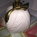 Image of Hollywood Regency Chapman Brass Bow Swag Lamp