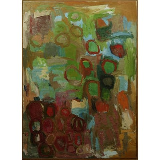 1950s Vintage American Abstract Expressionist Painting