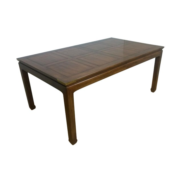 Image of Henredon Dining Table with Brass Accents