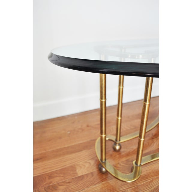 Vintage Brass Glass Oval Coffee Table Chairish