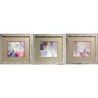 Modern Abstract Lithographs by Sara Jun Chang - Set of 3