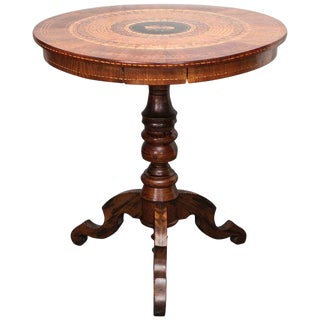 19th c. Italian Marquetry and Parquetry Table
