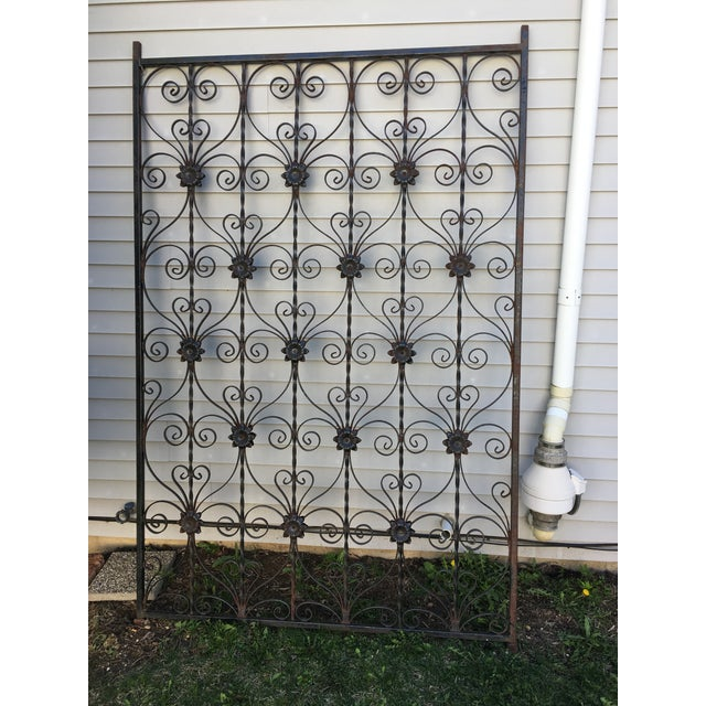 Antique Wrought Iron Decorative Wall Divider - Image 2 of 8