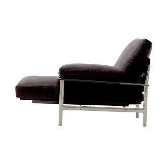 B&B Italia Diesis Black Leather Chaise
