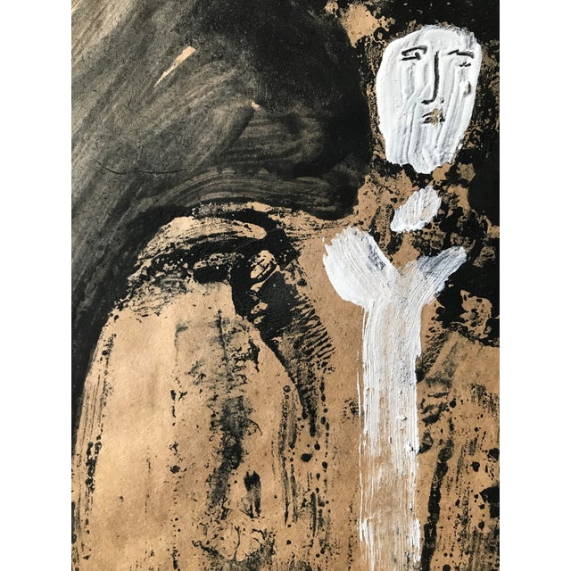 """1968 Jack Hooper """"Man With Hat"""" Painting - Image 6 of 8"""