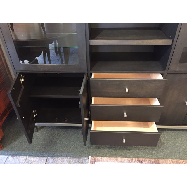 Room & Board Linear Charcoal Custom Cabinetry - Image 6 of 9