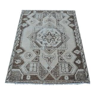 Faded Anatolian Turkish Oushak Decorative Rug - 3′7″ × 5′2″