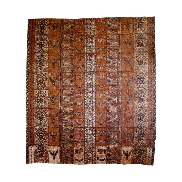 Monumental Tapa Cloth Panels - A Pair - Image 1 of 4