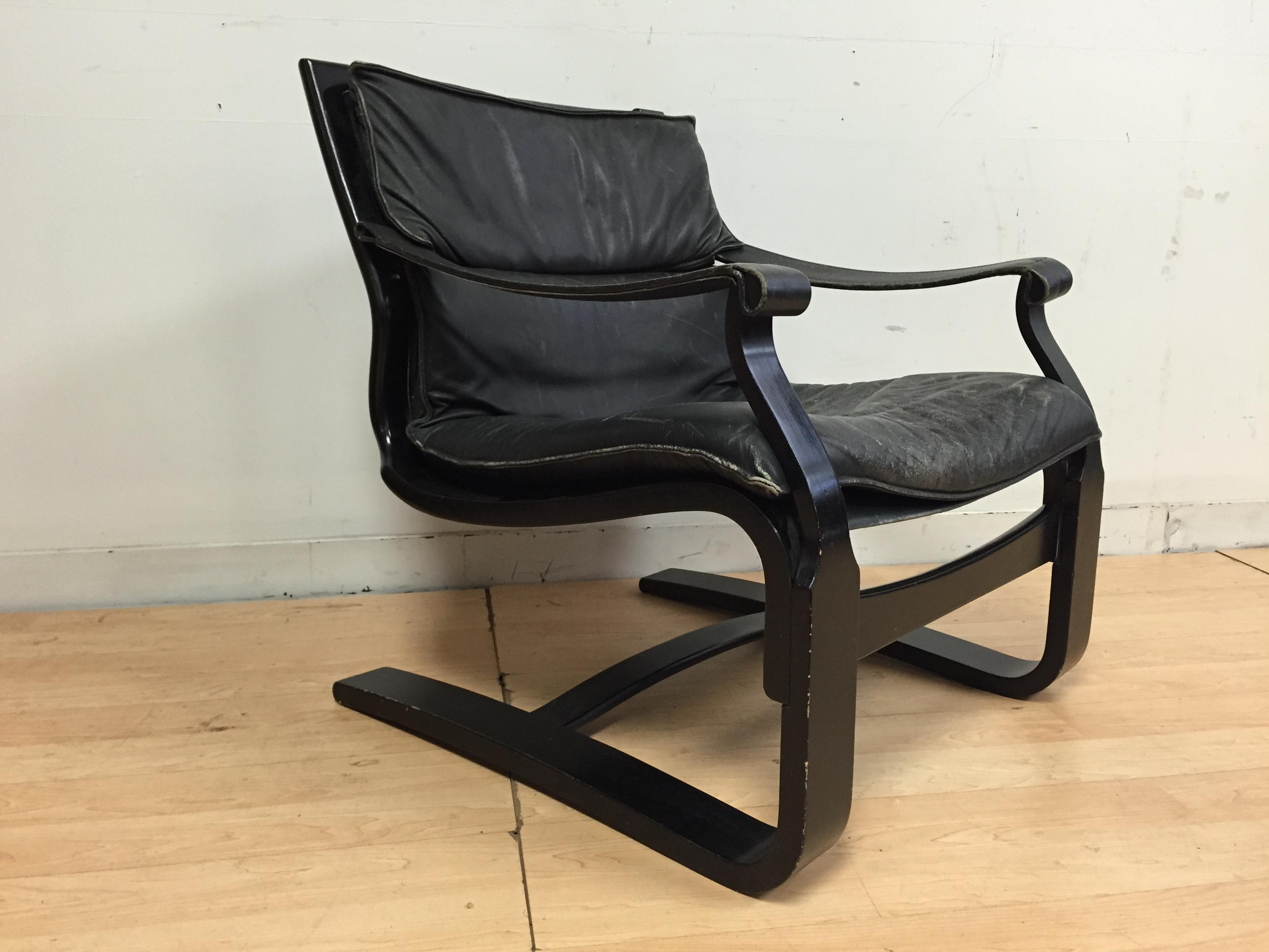 image of nelo leather lounge chair - Leather Lounge Chair