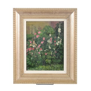 "Louis Mayer ""Garden Flowers"" Original Oil Painting"
