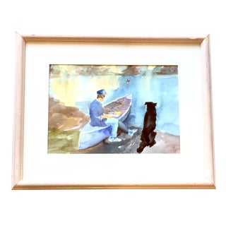 Contemporary Ralph C Lemmons Signed Water Painting