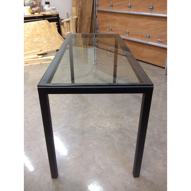 Room & Board Counter Height Steel Parsons Table - Image 4 of 4