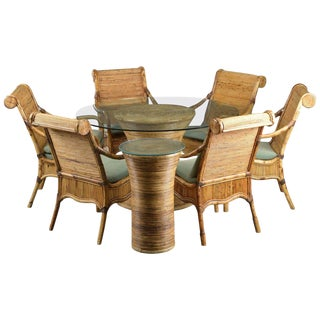 Lysberg Hansen and Terp Rattan & Wicker Dining Set