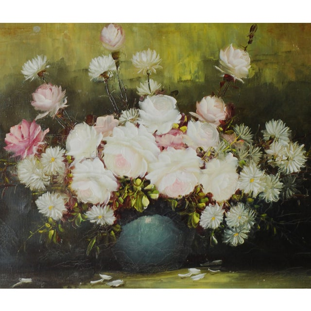 Vintage Floral Oil Painting by Henri-Roidot - Image 2 of 3