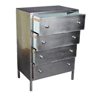 Simmons Furniture Polished Steel 4 Drawer Dresser