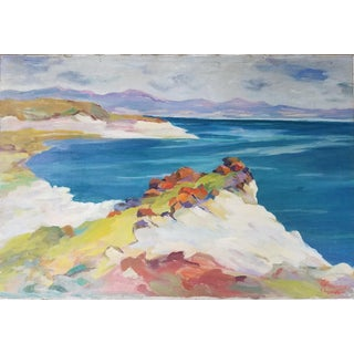 Vintage California Abstract Seascape Painting