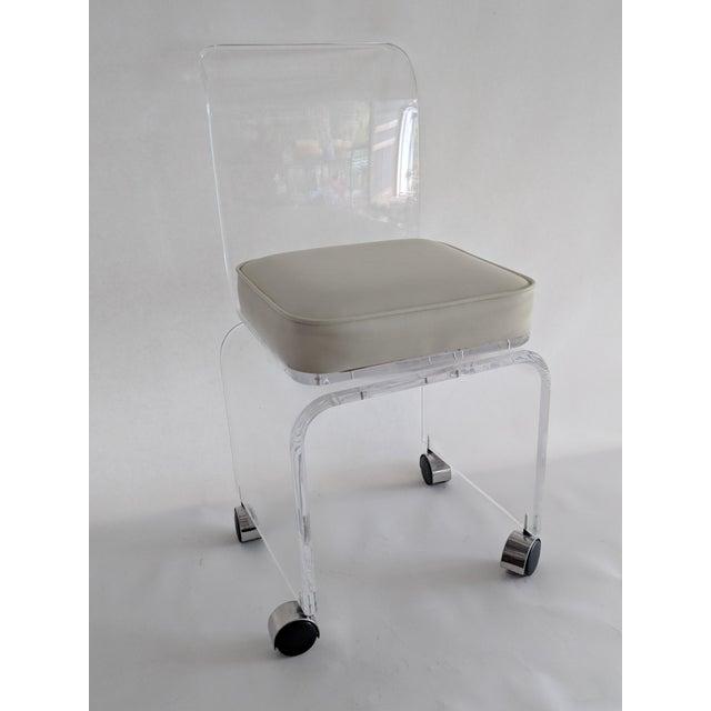 Lucite Vanity Swivel Stool / Chair - Image 8 of 8
