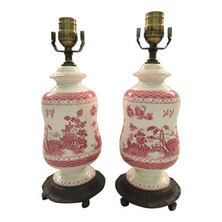 Red Willow Lamps - A Pair