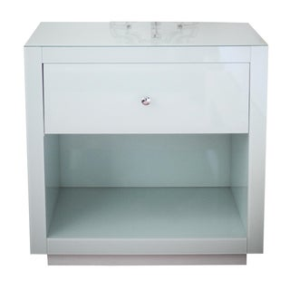 """Horchow """"Ocean Glass"""" Side Table"""