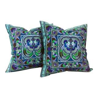 Thai Embroidered Pillows - a Pair