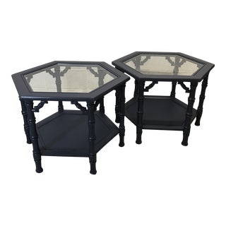 Mersman Mid-Century Bamboo Side Tables - A Pair