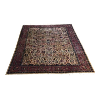 Old Turkish Oushak Ladik Distressed Rug 9' X 11'10""