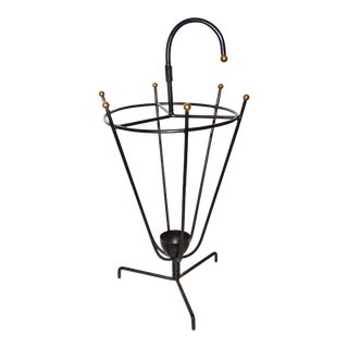 Vintage Art Deco Umbrella Stand by Jacques Adnet
