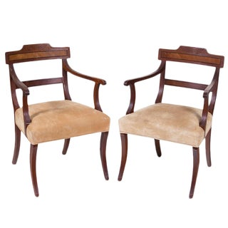 English Regency Arm Chairs - A Pair