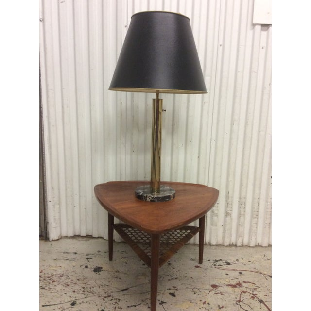 Walter Von Nessen Brass & Marble Table Lamp - Image 3 of 8