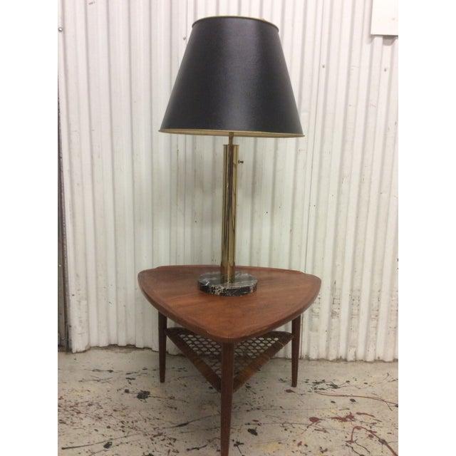 Image of Walter Von Nessen Brass & Marble Table Lamp