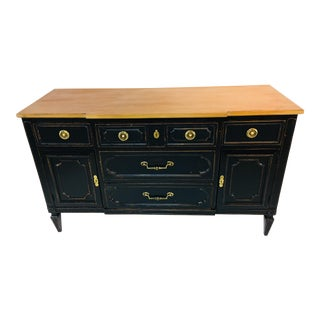 Empire Style Black Ebonized Chest of Drawers