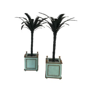 Vintage Palm Candelabras - A Pair