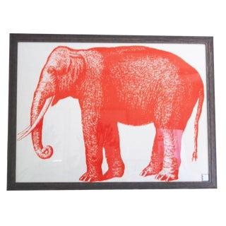 Framed Elephant Textile