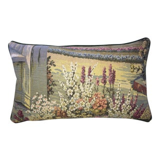 Vintage Italian Tapestry Lumbar Accent Pillow