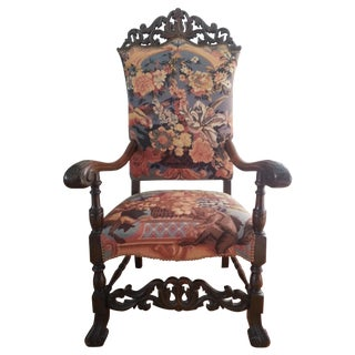 Needlepoint William and Mary Arm Chair