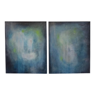 2017 The Tranquil Storm, I & II. Original Oil on Canvas by C. Damien Fox