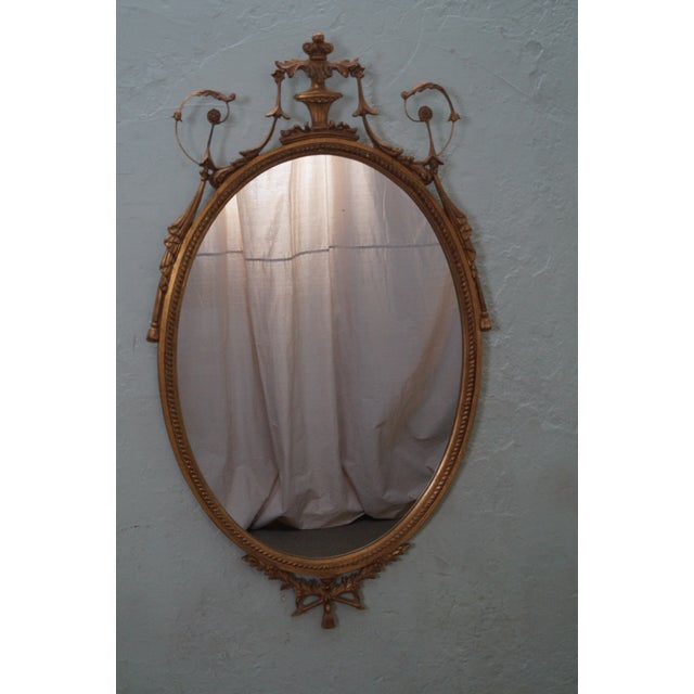 Carvers Guild Carved Gilt Adams Hanging Mirror - Image 2 of 10