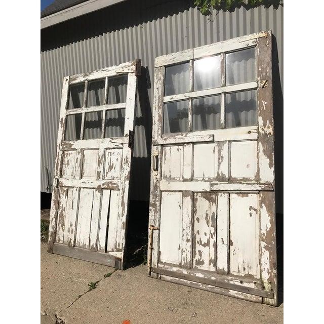 Antique Sliding Barn/Garage Doors - A Pair - Image 2 of 4 - Antique Sliding Barn/Garage Doors - A Pair Chairish