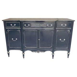 Vintage French Style Gray & White Server Sideboard