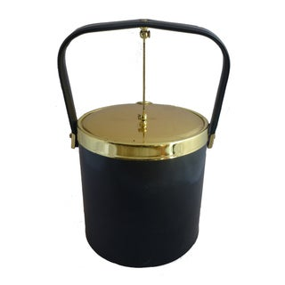Vintage Black Ice Bucket