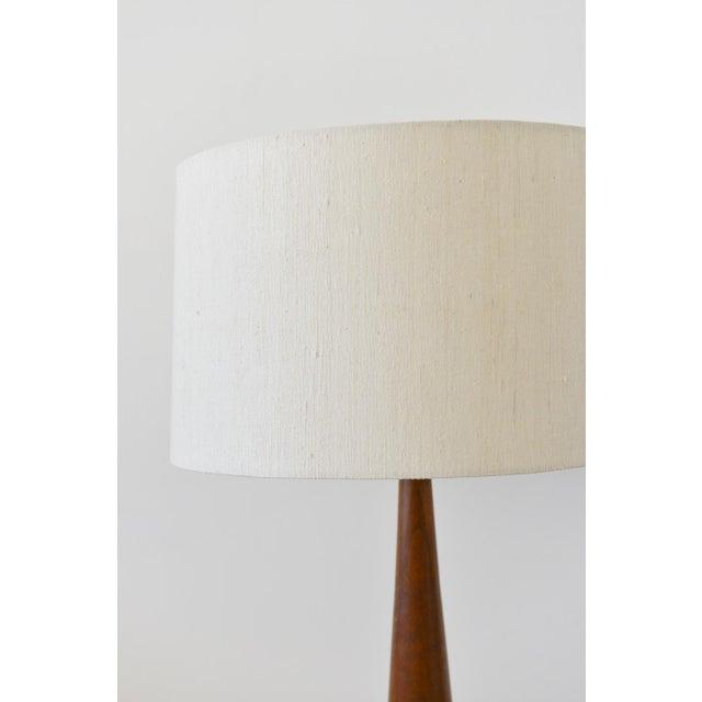 Image of Danish Modern Solid Teak Table Lamp