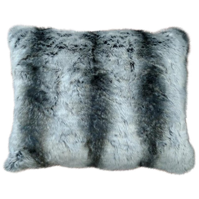 Faux Fur Pillow in Black & Gray - Image 1 of 3
