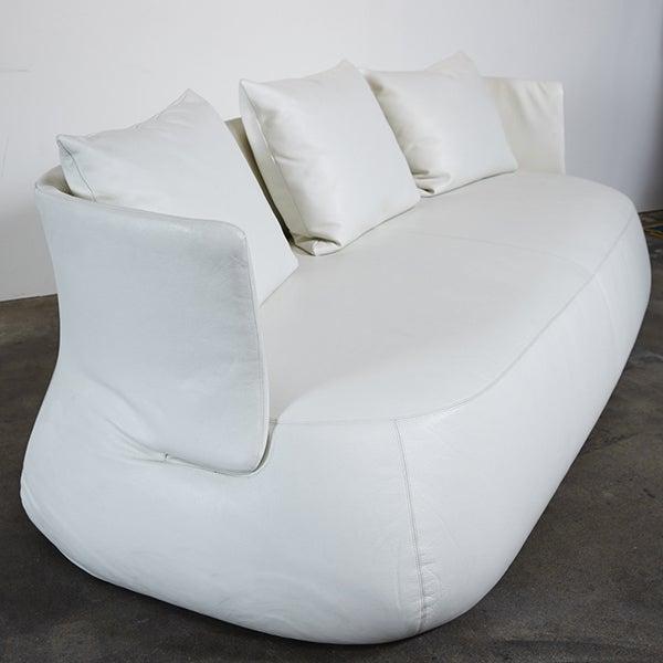 B&B Italia White Leather 'Fat' Sofa - Image 3 of 4