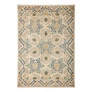 """Suzani, Hand Knotted Area Rug - 4' 3"""" X 6' 2"""""""