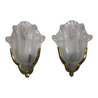 PAIR OF FRENCH ART DECO WALL SCONCES BY EZAN CIRCA 1940s