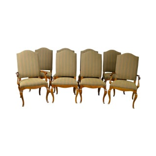 Ethan Allen Set of 8 Upholstered French Style Dining Chairs
