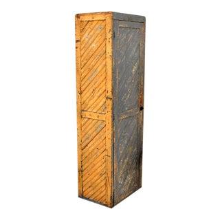 Folk Art Style Storage Cabinet