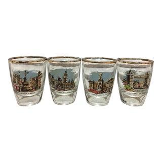 Mid-Century London Shot Glasses - Set of 4